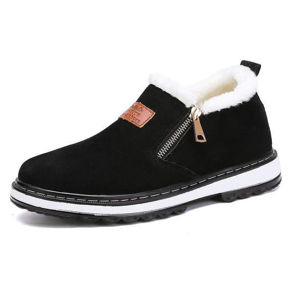 Invomall Men's Warm Short Plush Casual Fur Boots