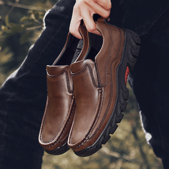 Shoes - High Quality Men's Genuine Leather Casual Shoes