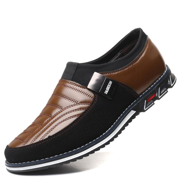 Invomall Men's Comfortable Leather Shoes