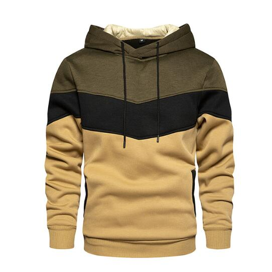 Invomall Hip Hop Zipper Hooded Sweatshirt
