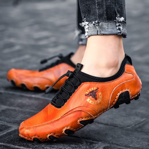 Invomall Spring Autumn Men's Leather Shoes