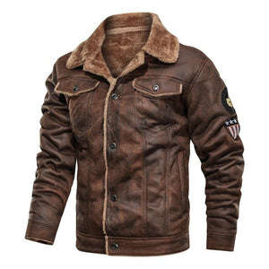 Invomall Men's Motorcycle Leather Jackets