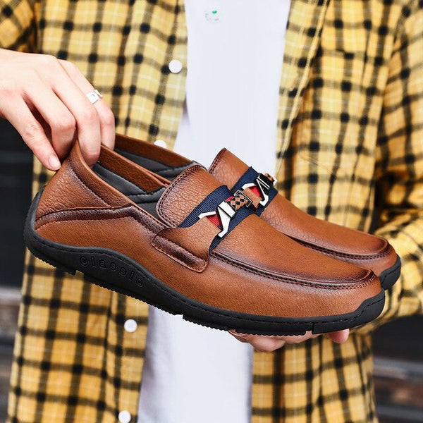 Shoes - Fashion Handmade Men's Leather Loafers Moccasins