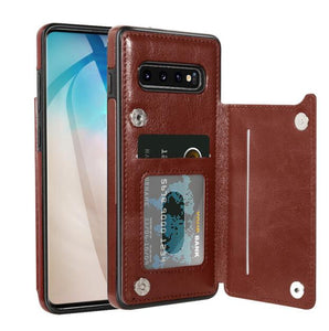 Invomall Luxury Retro Leather Card Slot Holder Cover Case For Samsung Note 20 S20 S20Plus