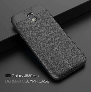 Phone Case - Luxury Litchi Leather Shockproof Matte Phone Cover For Sumsang Galaxy S9/S8 Plus Note 8