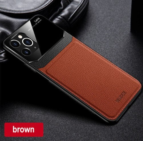 Luxury Silicone Shockproof Leather Case For iPhone