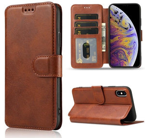 Invomall Luxury Leather Wallet Flip Cover For iPhone