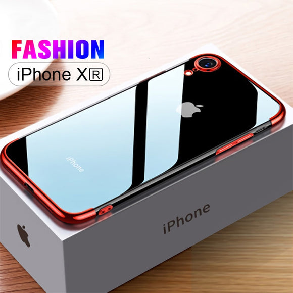 Invomall Luxury Ultra Thin Transparent Plating Case for iPhone