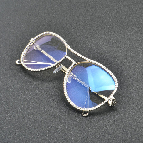 Sunglasses - Luxury Diamond Metal Shades