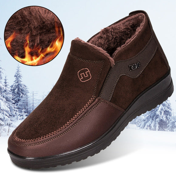 Invomall Men's Big Size Winter Warm Boots