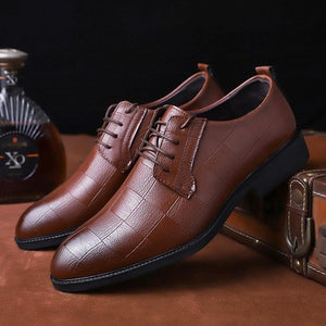 Invomall Men's Fashion Style Business Oxfords Shoes