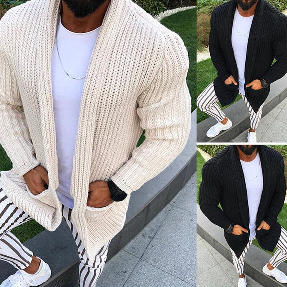Invomall Men's Autumn Knitted Sweater