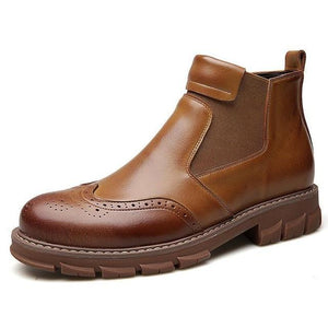 Invomall Men's Comfortable Warm Leather Boots