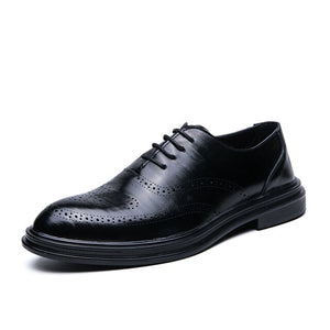 Invomall British Style Men's Brogue Oxfords Dress Shoes