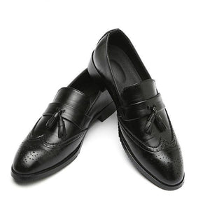 Invomall Luxury Men's Classic Leather Tassel Shoes