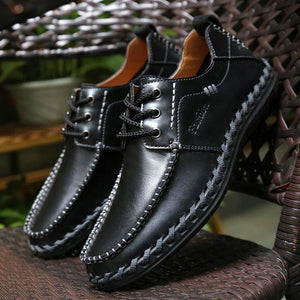 Invomall New Fashion Men's Cow Split Leather Shoes