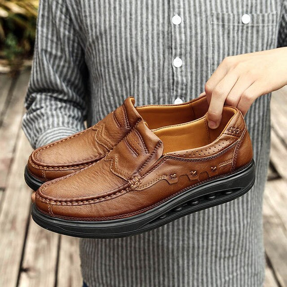 High Quality Men's Thick Sole Soft Genuine Leather Loafers