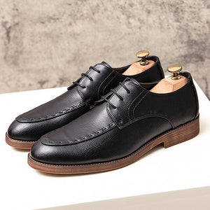 Invomall High Quliaty Breathable Leather Dress Shoes