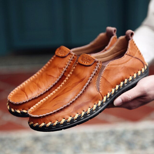 Shoes - Fashion Men's Handmade Leather Loafers Moccasins