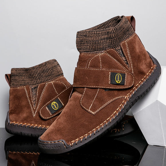 Invomall Men's Vintage Suede Boots