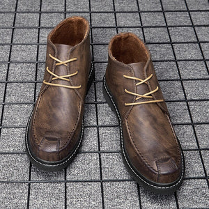 Invomall Leather Keep Warm Boots