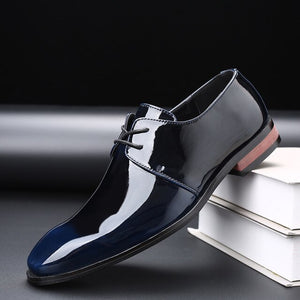 Invomall Men's Oxfords Patent Leather Formal Business Dress Shoes