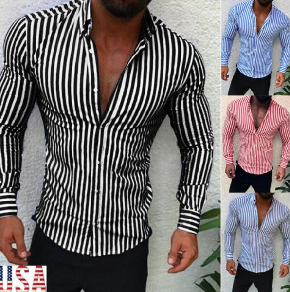 Men's Clothing - Hot Sale Men's Casual Striped Shirt