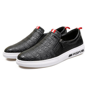 Invomall Crocodile Fashion Men Shoes