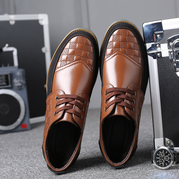 Invomall High Quality Men's Plus Size Leather Shoes