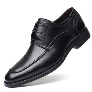 Invomall Men's Leather Oxfords Dress Shoes