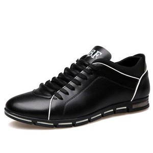 Invomall Men's Business Leather Casual Shoes