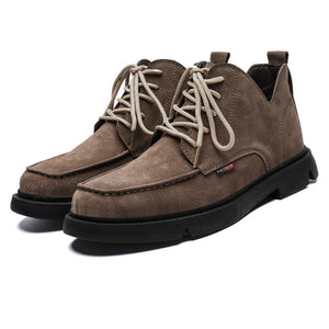 Invomall Fashion Quality Men's Leather Boots