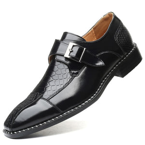 Invomall Men's British Style Fashion Leather Dress Shoes