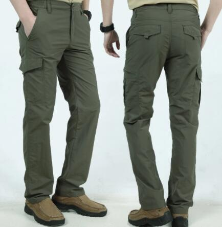Invomall Men's Lightweight Waterproof Quick Dry Cargo Pants