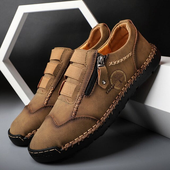 Invomall Genuine Leather Men's Leather Moccasins