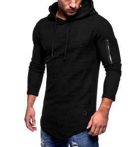Invomall Autumn Winter Men's Zipper T-shirt