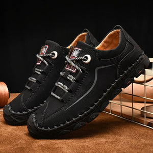 Invomall Men's Vintage Handmade Casual Shoes
