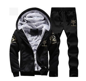 Invomall Men's Autumn Winter Warm Tracksuit