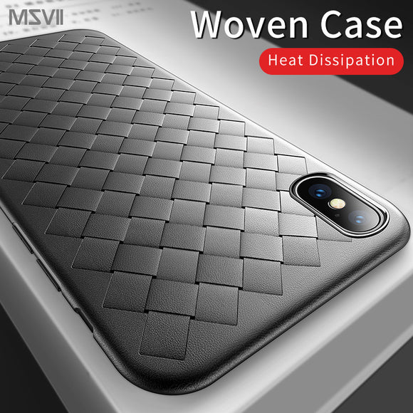 Invomall Luxury Woven Phone Case for iPhone