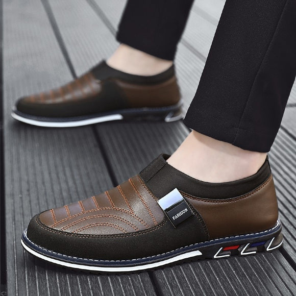 Invomall High Quality Leather Men's Business Casual Leather Shoes