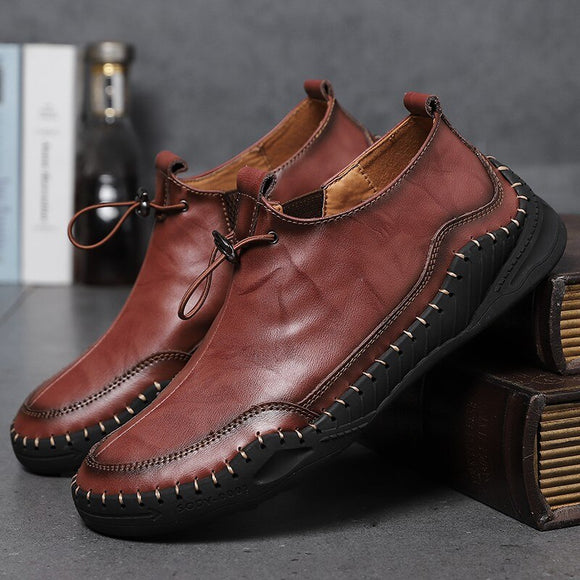 Invomall Luxury Genuine Leather Men's Casual Shoes