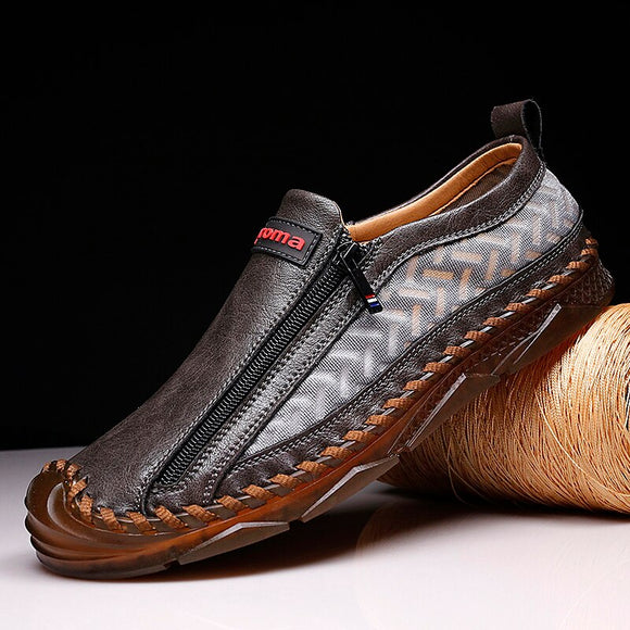 Invomall Men Casual Leather Moccasins Loafers
