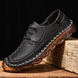 Invomall Men's Comfortable Handmade Casual Leather Shoes