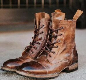 Invomall European American Style Motorcycle Boots