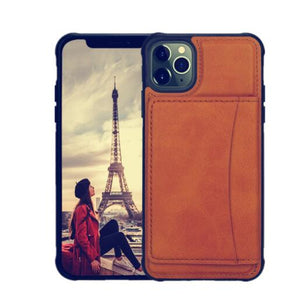 Invomall Kickstand Durable Leather Shockproof Cover for iPhone
