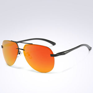 Invomall Men's Rimless Pilot Polarized Sunglasses
