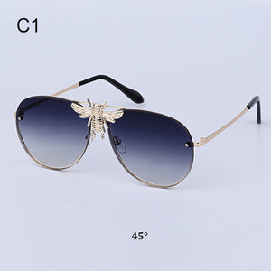 Sunglasses - Luxury Little Bee Pilot Sunglasses