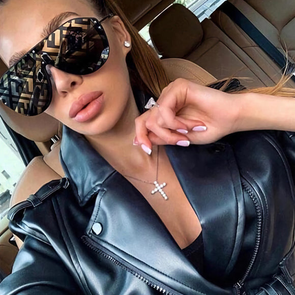 Sunglasses - 2019 ins Popular Letter Coating Sunglasses(Buy 2 Get 5% off, 3 Get 10% off Now)