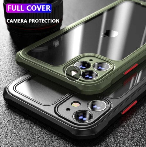 Invomall Shockproof Bumper Transparent Phone Case For iPhone