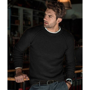 Invomall Men's Slim Fit Knitted Sweaters Pullovers